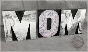diy mom letter press block photo home decor