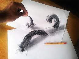 3d pencil drawing by ejleh