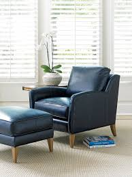 Leather Accent Chair With Ottoman Navy Leather Accent Chair And Ottoman Tommy Bahama Home