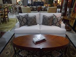 Living Room : Oval Coffee Table With White Ethan Allen Sectional ...