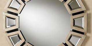 round wall mirror in decors