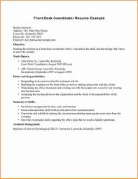 Resume Template Receptionist Professional Bilingual Templates For