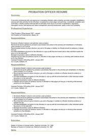Probation Officer Resumes Sample Probation Officer Resume