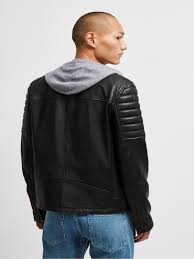 men black leater jacket