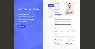 Innovative Resume Templates 100 Professional Material Design Resume Templates 72