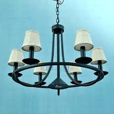 wrought iron outdoor chandelier wrought iron chandelier rustic black iron chandelier rustic 6 light fabric shade