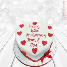 Anniversary Cake With Love Best Cake Shop In Gurgaon Gurgaonbakers