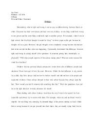 Personal Experience Essay Examples Personal Essay Example