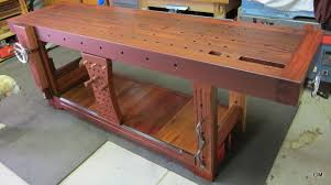 Build A Roubo Style Woodworking Bench From 2X6 Construction Lumber Roubo Woodworking Bench