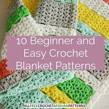 Easy Crochet Afghan Patterns Custom 48 Beginner And Easy Crochet Blanket Patterns Stitch And Unwind