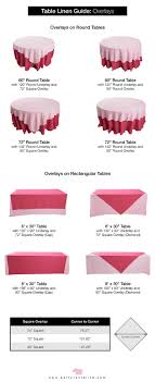 Round Table Linen Chart Lets Talk Linens The Ultimate Guide To Table Linen Sizes