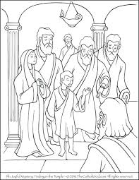Joyful Mysteries Coloring Pages Rosary Coloring Pages Printable