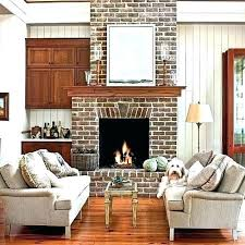 modern living room with brick fireplace. Modern Brick Fireplace Fireplaces Full Size Of Living Room Ideas With R