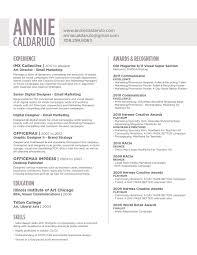 Resume — Annie Caldarulo