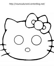 Coloriage Masque Hello Kitty Imprimer