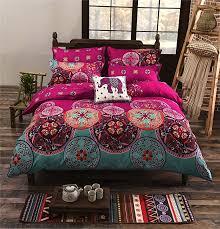la mejor queen size microfiber bohemia exotic patterns duvet cover sets purple b01gjli5uu