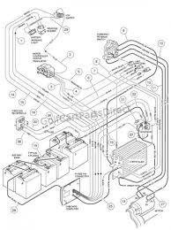 Wiring diagram club car 2000 the 2 and battery for