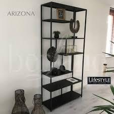Arizona Open Zwarte Vitrine Kast Van Metaal Lifestyle Arizona
