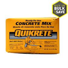 quikrete 80 lb high strength concrete