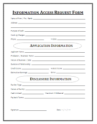 request for information template information access request form a to z free printable sample forms
