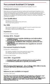 Procurement Manager Cv Template Job Description Sample Resume ...