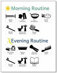 12 Brilliant Kids Charts For Chores Morning Evening Routine