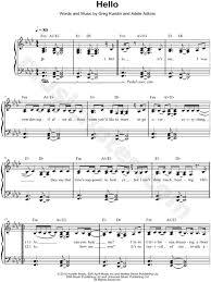 hello free piano sheet music