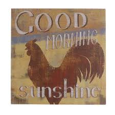 Dekoratives Schild Wandbild Spruch Gruß Guten Morgen