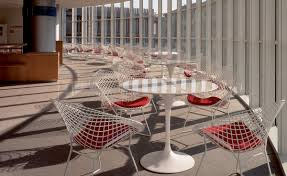 bertoia small diamond chair with seat cushion