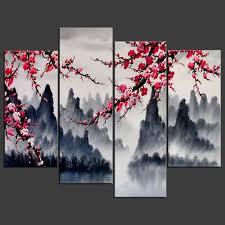 chinese wall art painting simple chinese wall art combination multi panel large aliexpress