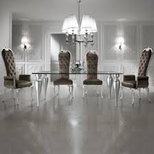 glass dining room set. Italian Designer Silver Leaf Glass Dining Table Set Room A