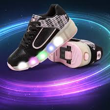 Tennis Shoes That Light Up At The Bottom Popular Led Lights Heelys Children Shoes With Led Light Up