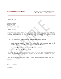 Cover Letter Examples For Financial Jobs Tomyumtumweb Com