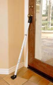 Beautiful Door Stopper Security Bar Alarm With Home Depot In Models Ideas