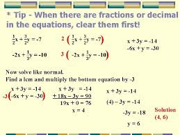 solving linear systems by linear