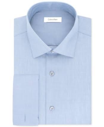Calvin Sin Recto Azul Estilo Hombres 32 Espiga Corte Camisa Vestir Klein De Hombre 14 Para 33 Espiga Steel vqY6xwvr