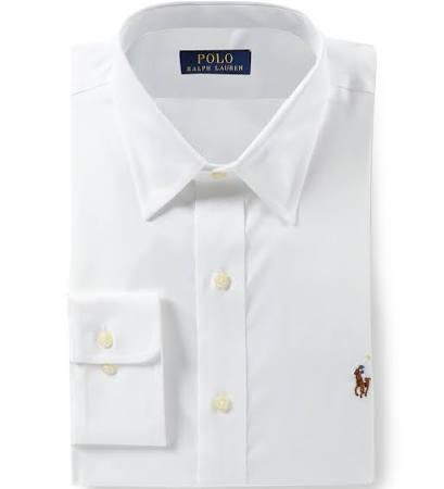 Para Camisa 34 Vestir Polo De Corte 35 Fácil Lauren Ralph 5 Cuidado 16 Hombres Blanco Clásico qI66RE0x