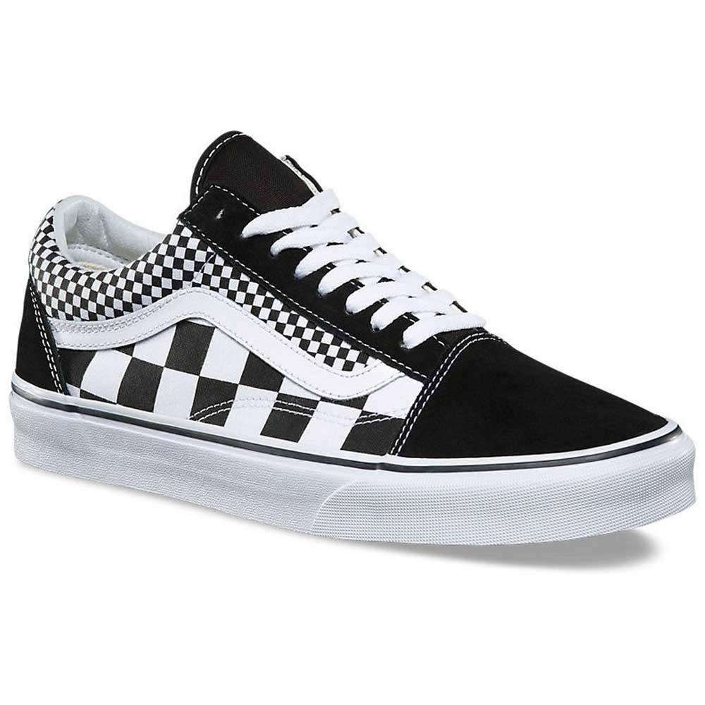 Negro Verdadero Vans mezcla Checker Skool Old BOxOYAq1wI