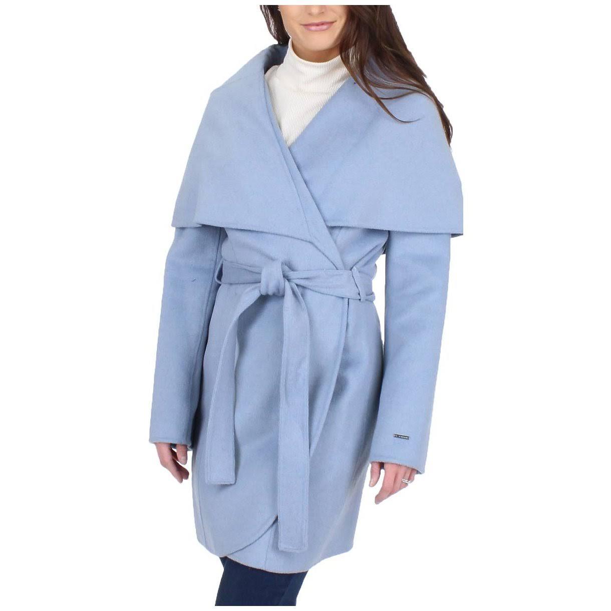 Mezcla Marino De Abrigo Mujer Tahari Para Invierno Lana T Azul Marla w4q8Tv
