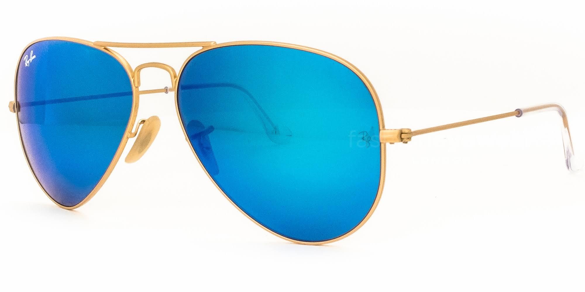 oro blu Rb3025 aviatoreMontatura da 58mm da in Ray opacoLente 17 Occhiali 112 ban flash sole gyI6f7vmYb