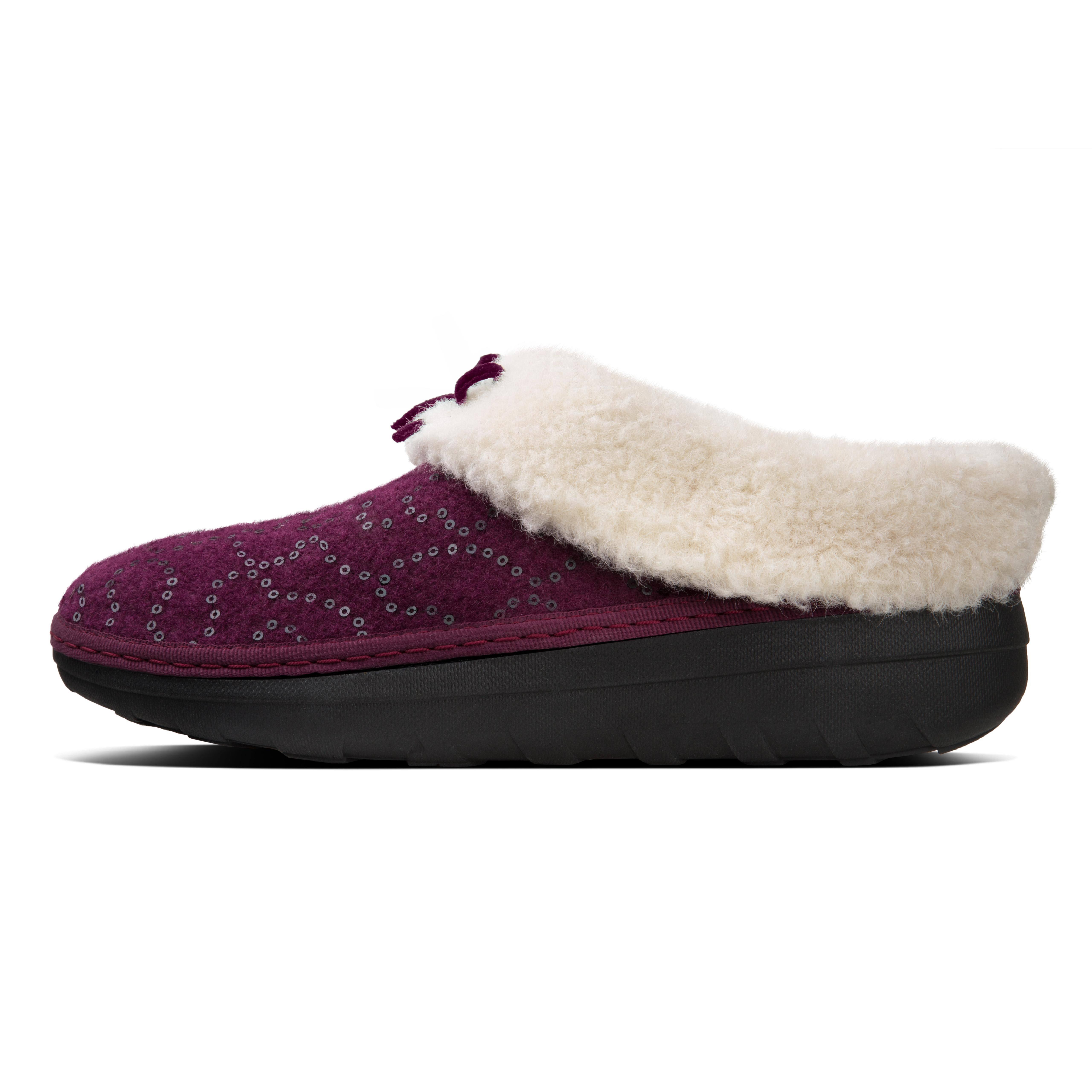 Deep Plum Sequin 7 Loaf Slipper Snug Dames Fitflop l3KFuTc1J