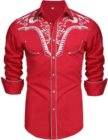 Casual Herren Bestickte Fit Button Slim Shirts Shirt Langarm Down Daupanzees fdYqpxZZ