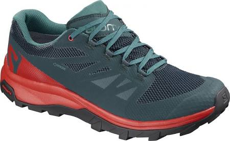 tex Shoes Salomon Color Pad Eu Gtx Outline Deep Reflecting Lake Risk 3 High Gore 1 47 size Trail Running Red Lake Mens Green amp; wzXwqS