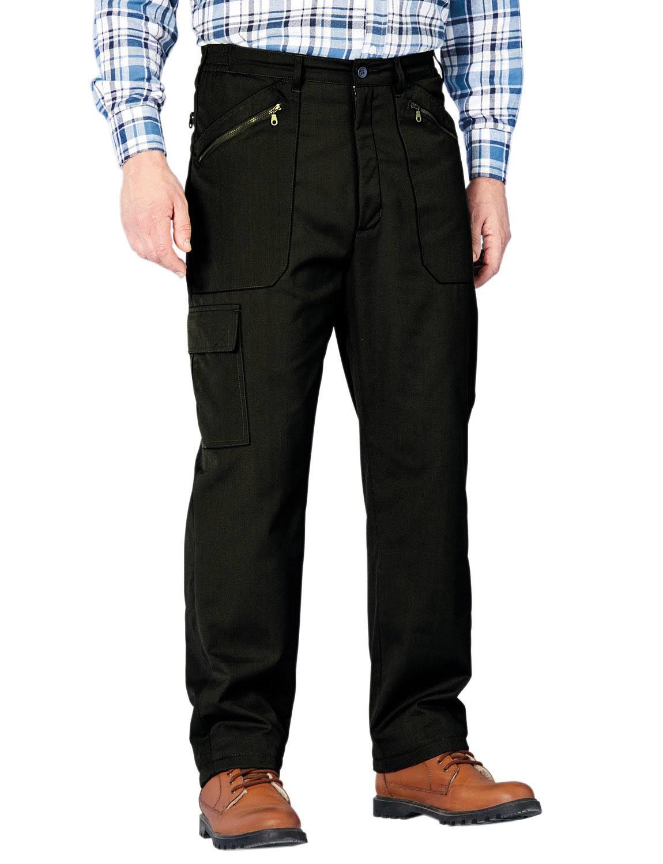 Chums Fleece Lined High Waist Action trouser - Black
