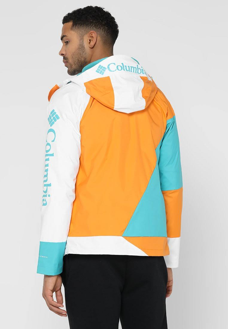 Turquesa Blast Tamaño Park Miami Hombres Mediano Jacket Windell White Columbia Waterproof Orange zRPAHWqw