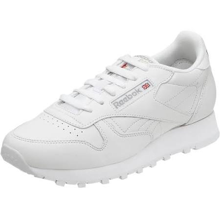 White Leather Classic Reebok Women white white Ew8PxIPq