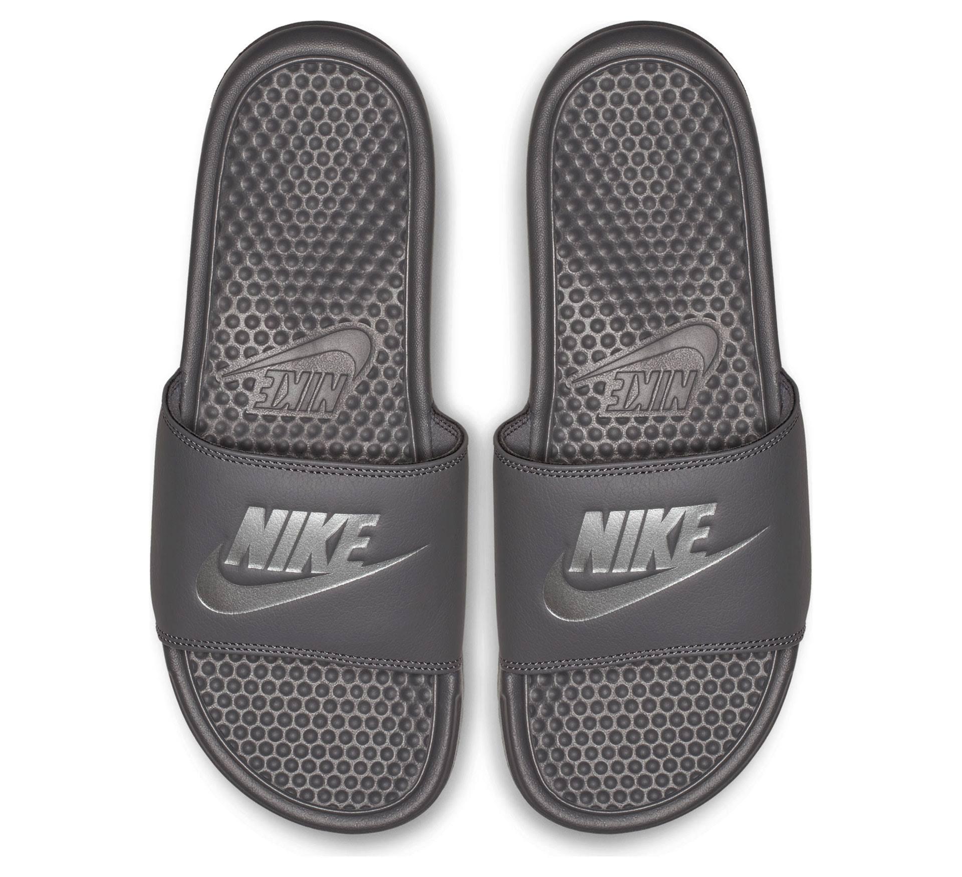 Herren silber Benassi Nike grau Grau Grau Für us Gr Jdi Badeschuhe 8 q4xgHp