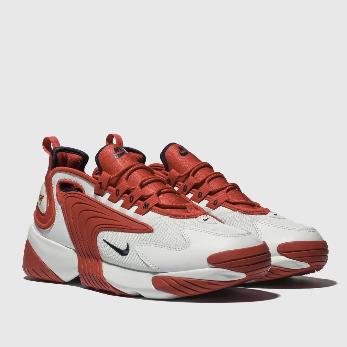 Weiß 2k rot Zoom Nike Sneaker Herren 8T05qPxv