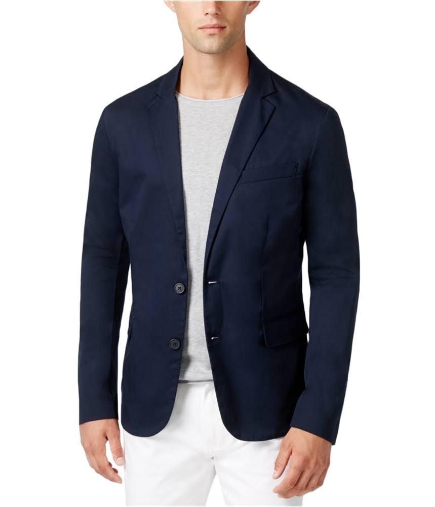 De Botones Hombre Armani Tamaño Para Marino Azul Tipo Blazer Chaqueta 40 Dos q4UExC