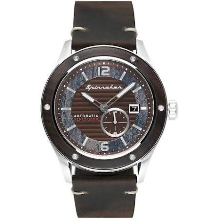 Spinnaker SP-5067-01 Gent's SORRENTO Brown Dial Reloj de Pulsera Zafiro/acero inoxidable